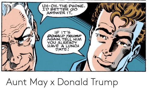 Donald Trump: Aunt May x Donald Trump
