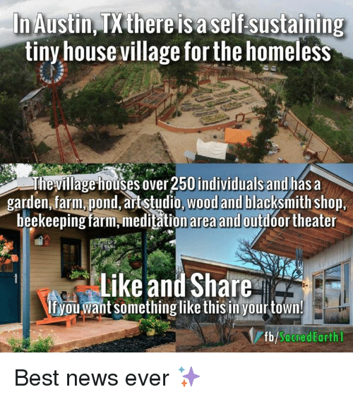 Homeless Meme Austin There Is a Self Sustaining Tiny House