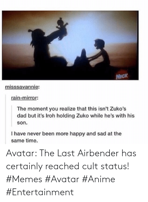 anime: Avatar: The Last Airbender has certainly reached cult status! #Memes #Avatar #Anime #Entertainment