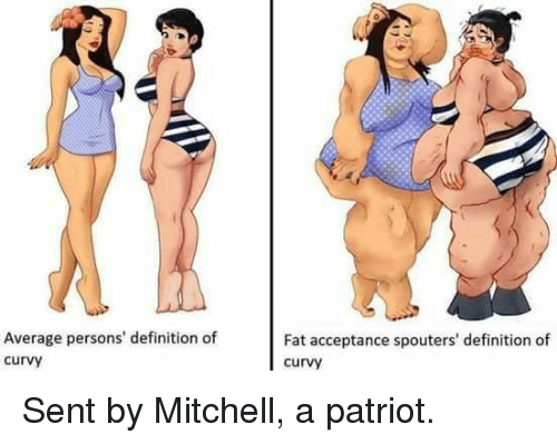 Average Persons' Definition of Curvy Fat Acceptance ...