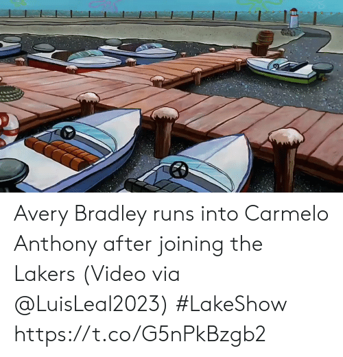 Bradley: Avery Bradley runs into Carmelo Anthony after joining the Lakers   (Video via @LuisLeal2023) #LakeShow https://t.co/G5nPkBzgb2