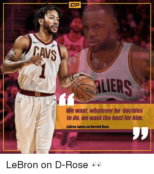 Derrick Rose, LeBron James, and Nba: AVS  ALIERS  CLE  We want, whatever he decides  to do, we want the best for him.  Lebron James on Derrick Rose LeBron on D-Rose 👀