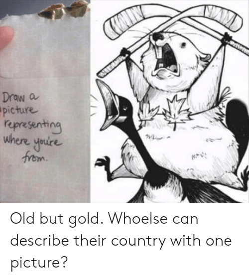old-but-gold: AW  Draw a  picture  representing  where youire  from Old but gold. Whoelse can describe their country with one picture?
