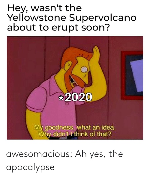 yes: awesomacious:  Ah yes, the apocalypse