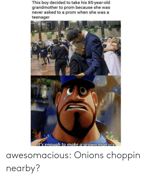 onions: awesomacious:  Onions choppin nearby?