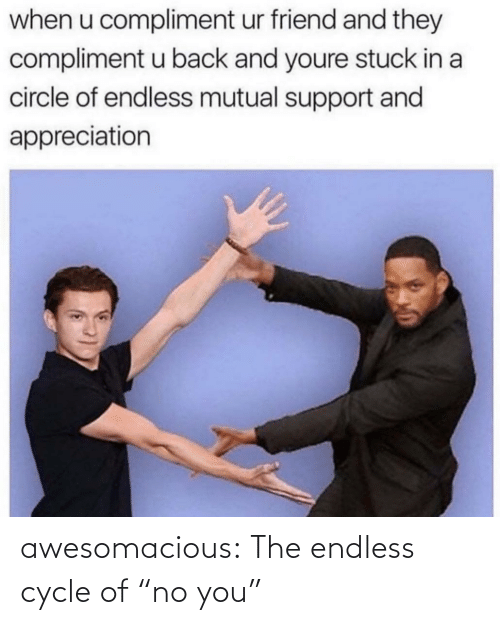 """No You: awesomacious:  The endless cycle of """"no you"""""""