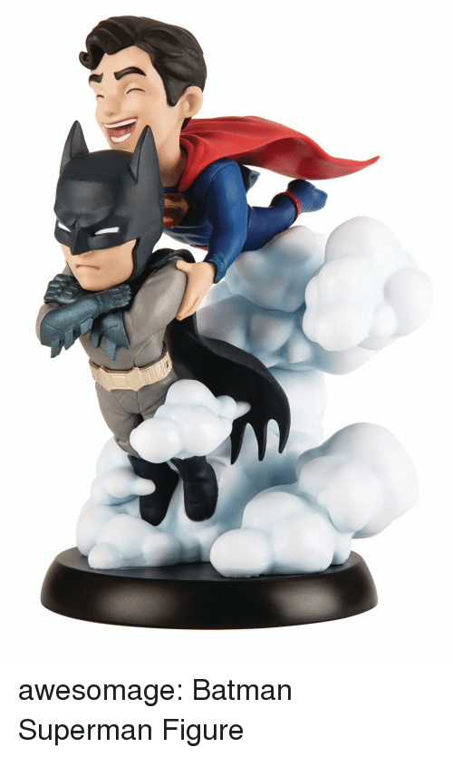 Batman, Superman, and Tumblr: awesomage:  Batman  Superman Figure