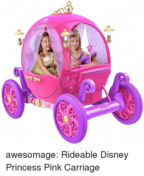 Disney, Tumblr, and Blog: awesomage:  Rideable Disney Princess Pink Carriage