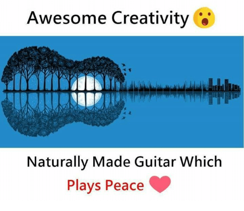 Memes, Guitar, and Awesome: Awesome Creativity  Naturally Made Guitar Which  Plays Peace