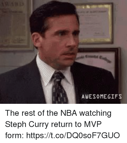 Nba, Sports, and Gifs: AWESOME GIFS The rest of the NBA watching Steph Curry return to MVP form: https://t.co/DQ0soF7GUO