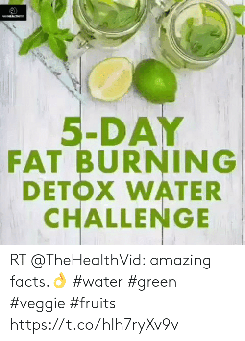 amazing facts: awHEALTHs  5-DAY  FAT BURNING  DETOX WATER  CHALLENGE RT @TheHealthVid: amazing facts.👌 #water #green #veggie #fruits https://t.co/hIh7ryXv9v
