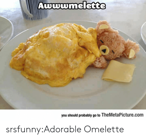 omelette: Awwwmelette  you should probably go to TheMetaPicture.com srsfunny:Adorable Omelette