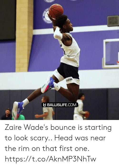 zaire: AZERS  BALLISLIFE.COM  Wnde Zaire Wade's bounce is starting to look scary.. Head was near the rim on that first one. https://t.co/AknMP3NhTw