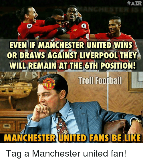 #AZR EVEN IF MANCHESTER UNITED WINS OR DRAWS AGAINST ...