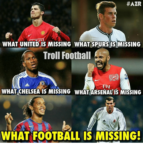 #AZR WHAT UNITED IS MISSING WHAT SPURS ISMISSING Troll ... Funny Football Trolls 2017