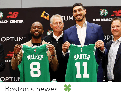 opt: B  UM  AUERBAC  BACH CENTER  OPT  OPTUM  KANTER  WALKER  HC  11  OPTUN Boston's newest 🍀
