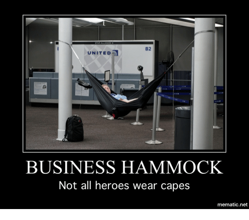 B2 United Business Hammock Not All Heroes Wear Capes
