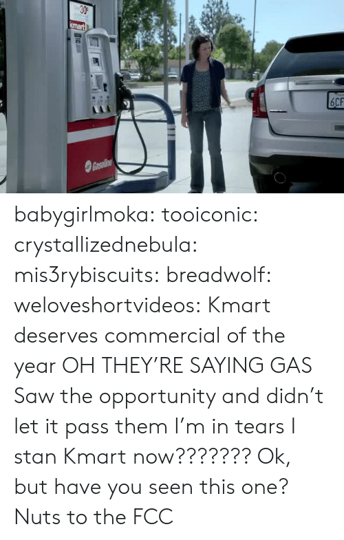 Shipped: babygirlmoka:  tooiconic:  crystallizednebula: mis3rybiscuits:  breadwolf:   weloveshortvideos: Kmart deserves commercial of the year OH THEY'RE SAYING GAS   Saw the opportunity and didn't let it pass them  I'm in tears   I stan Kmart now???????  Ok, but have you seen this one?   Nuts to the FCC