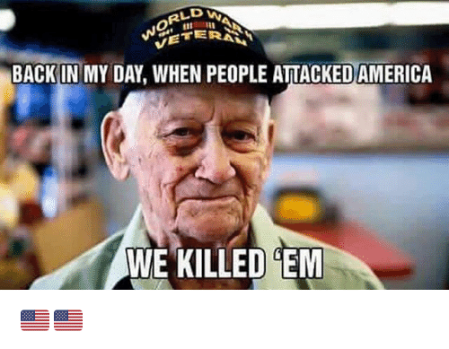 Backes: BACK IN MY DAY, WHEN PEOPLE ATTACKED AMERICA  WE KILLED EM 🇺🇸🇺🇸
