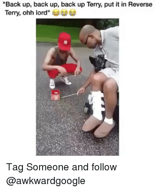 """Memes, Tag Someone, and Back: """"Back up, back up, back up Terry, put it in Reverse  Terry, ohh lord"""" Tag Someone and follow @awkwardgoogle"""