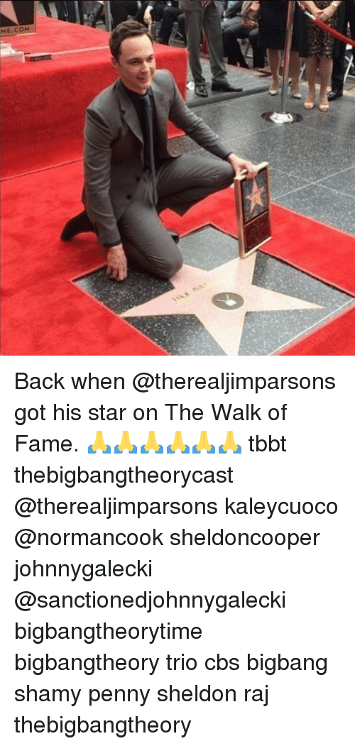 The Walk: Back when @therealjimparsons got his star on The Walk of Fame. 🙏🙏🙏🙏🙏🙏 tbbt thebigbangtheorycast @therealjimparsons kaleycuoco @normancook sheldoncooper johnnygalecki @sanctionedjohnnygalecki bigbangtheorytime bigbangtheory trio cbs bigbang shamy penny sheldon raj thebigbangtheory
