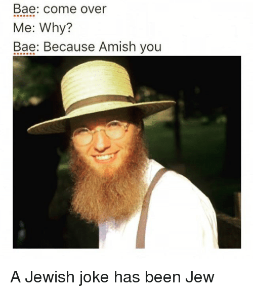 Funniest Jewish Memes : Bae come over me why because amish you a jewish joke