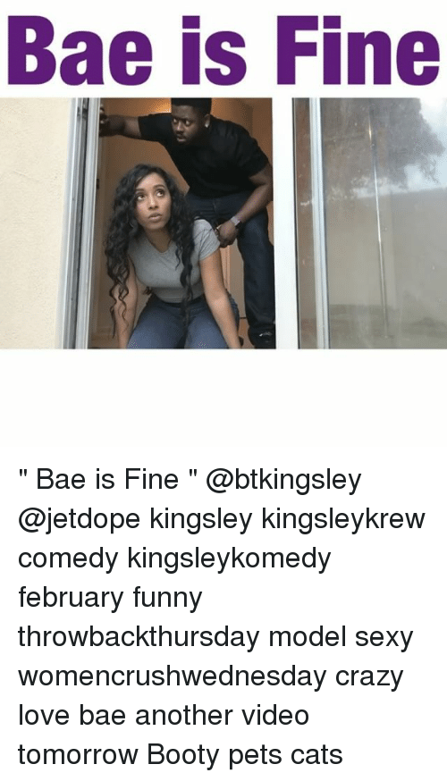 """Sexis: Bae is Fine """" Bae is Fine """" @btkingsley @jetdope kingsley kingsleykrew comedy kingsleykomedy february funny throwbackthursday model sexy womencrushwednesday crazy love bae another video tomorrow Booty pets cats"""