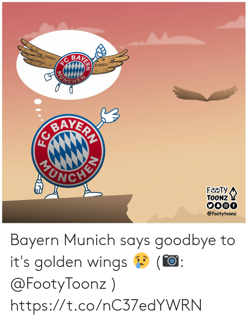 Bayern: BAK  RIBERY  ROBBEN  YER  TOONZ  @footytoonz Bayern Munich says goodbye to it's golden wings 😢 (📷: @FootyToonz ) https://t.co/nC37edYWRN