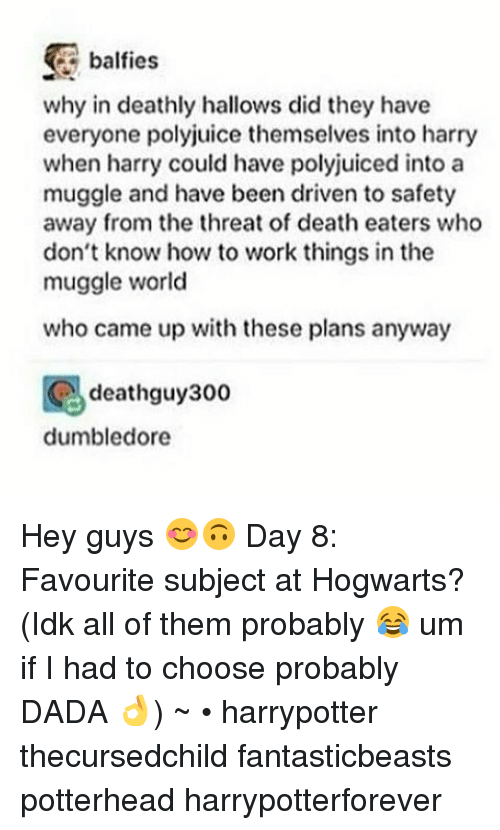 Dumbledore Memes And 300 Balfies Why In Deathly Hallows Did They Have Everyone
