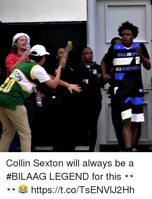 Memes, 🤖, and Legend: BALISUF  ALL Collin Sexton will always be a #BILAAG LEGEND for this 👀👀😂 https://t.co/TsENVlJ2Hh