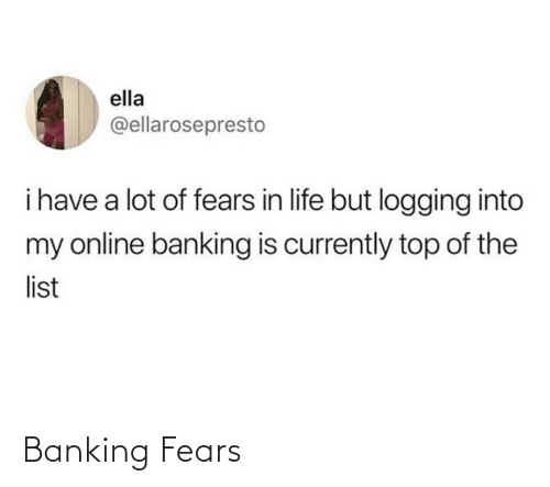 Banking: Banking Fears