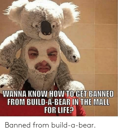 build a: Banned from build-a-bear.