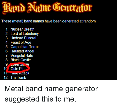 Images of Cool Metal Names - #rock-cafe