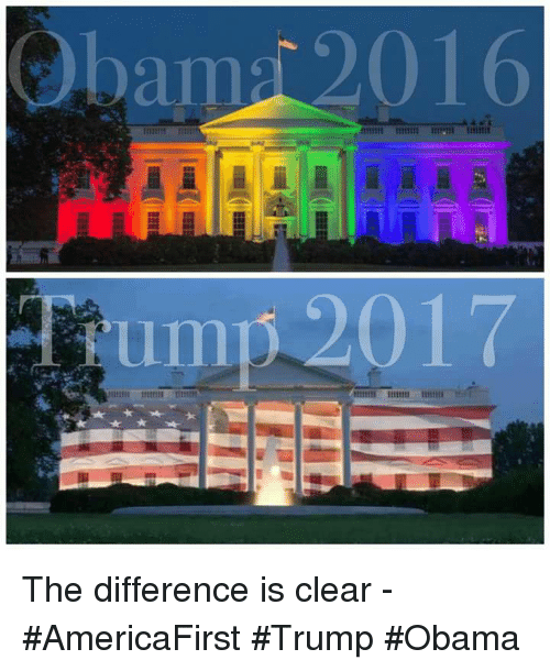 Trump Obama: bap 2016 The difference is clear - #AmericaFirst #Trump #Obama