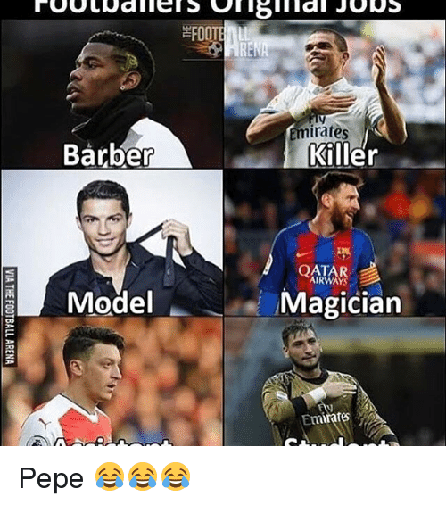 Barber, Football, and Memes: Barber  Model  FOOTBALL  minates  Killer  AIRWAYS  A  Magician  Emirate Pepe 😂😂😂