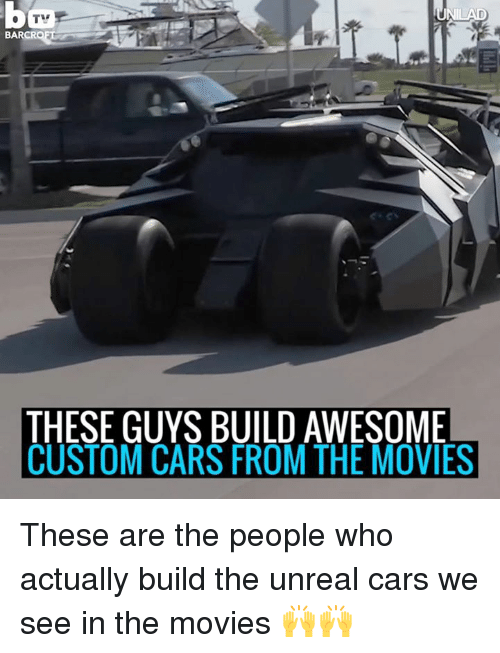 custom cars: BARC  THESE GUYS BUILD AWESOME  CUSTOM CARS FROM THE MOVIES These are the people who actually build the unreal cars we see in the movies 🙌🙌