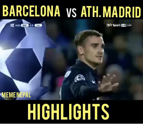 barcelona vs athletico madrid results