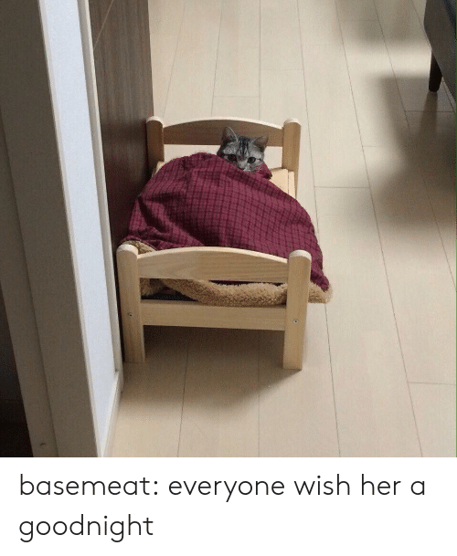 goodnight: basemeat: everyone wish her a goodnight