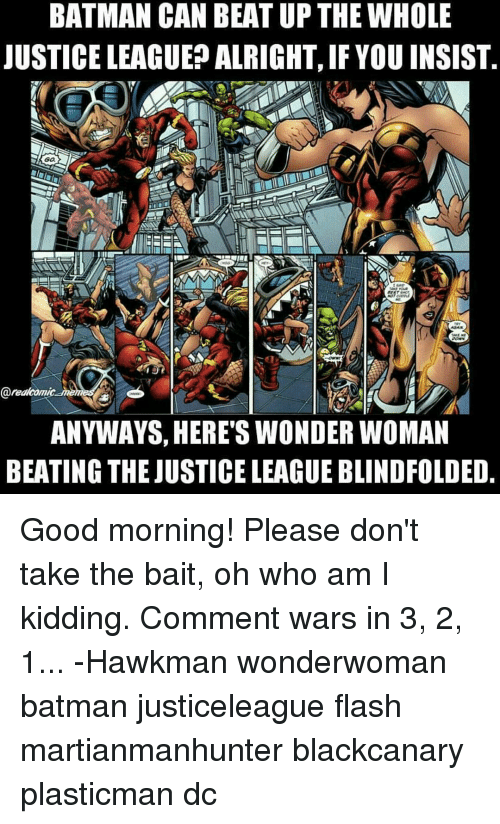 Wonder Woman Beaten Justice League BATMAN CAN BEAT...