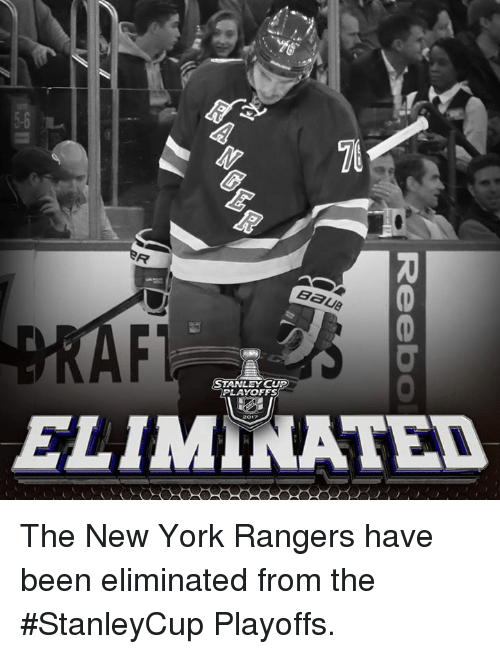 stanley cup playoffs: BaU8  STANLEY CUP  PLAYOFFS  ELIMINATED The New York Rangers have been eliminated from the #StanleyCup Playoffs.