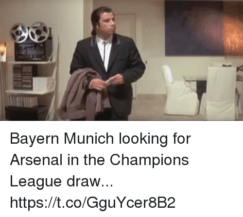 Arsenal, Soccer, and Champions League: Bayern Munich looking for Arsenal in the Champions League draw... https://t.co/GguYcer8B2