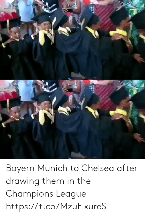 Bayern: Bayern Munich to Chelsea after drawing them in the Champions League   https://t.co/MzuFlxureS