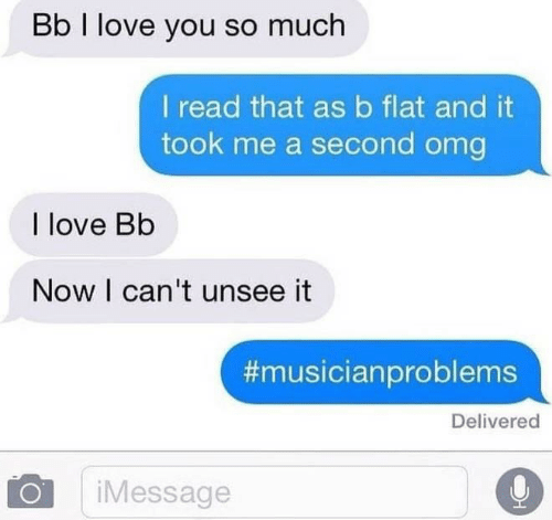 i love you so much: Bb I love you so much  I read that asb flat and it  took me a second omg  I love Bb  Now I can't unsee it  #musicianproblems  Delivered  iMessage