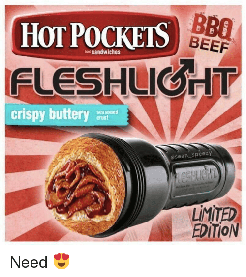 Hot Pockets: BB0  HOT POCKETS )  BEEF  at sandwiches  FLESHUIGHT  crispy buttery  seasoned  crust  asean speezy  LİMİTED  EDİTİON Need 😍