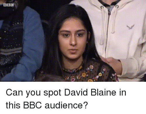 David Blaine: BBC Can you spot David Blaine in this BBC audience?