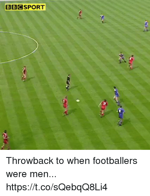 Soccer, Men, and Throwback: BBCSPORT Throwback to when footballers were men... https://t.co/sQebqQ8Li4