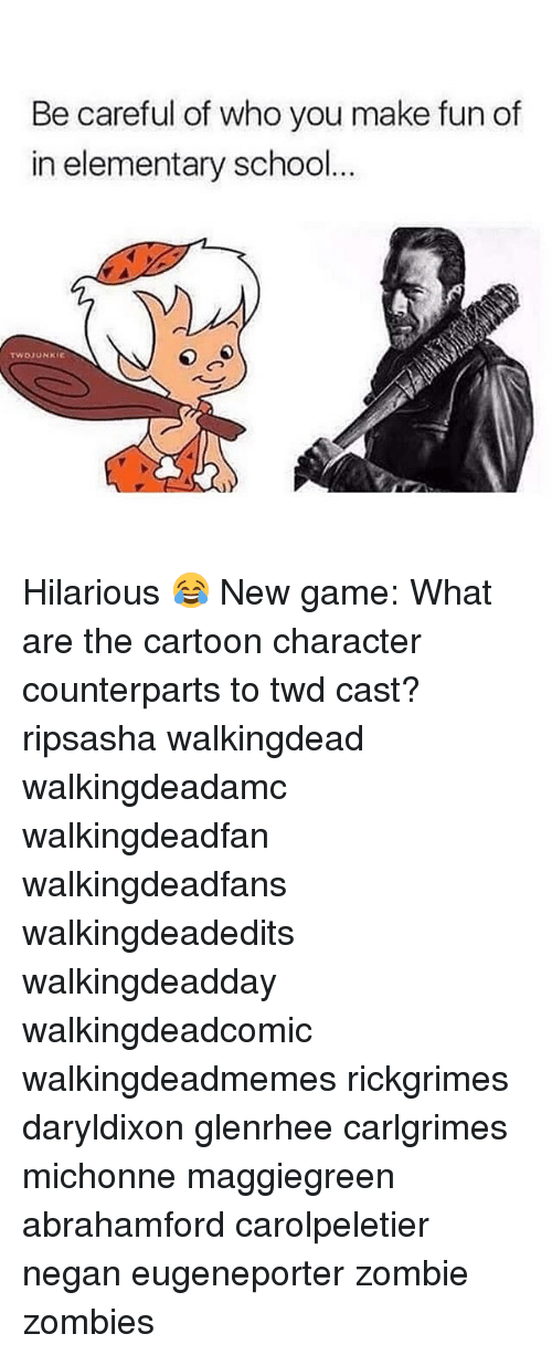 new games: Be careful of who you make fun of  in elementary school  TWDJUNKEE Hilarious 😂 New game: What are the cartoon character counterparts to twd cast? ripsasha walkingdead walkingdeadamc walkingdeadfan walkingdeadfans walkingdeadedits walkingdeadday walkingdeadcomic walkingdeadmemes rickgrimes daryldixon glenrhee carlgrimes michonne maggiegreen abrahamford carolpeletier negan eugeneporter zombie zombies