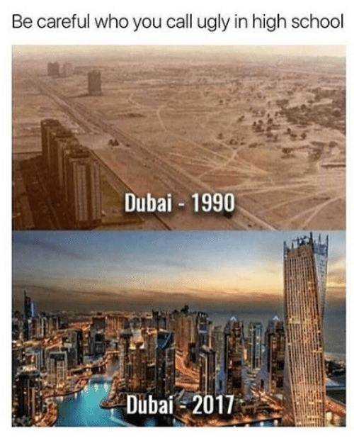 Memes, School, and Ugly: Be careful who you call ugly in high school  Dubai 1990
