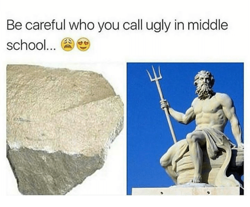 Memes, Ugly, and Be Careful Who You Call Ugly: Be careful who you call ugly in middle  school