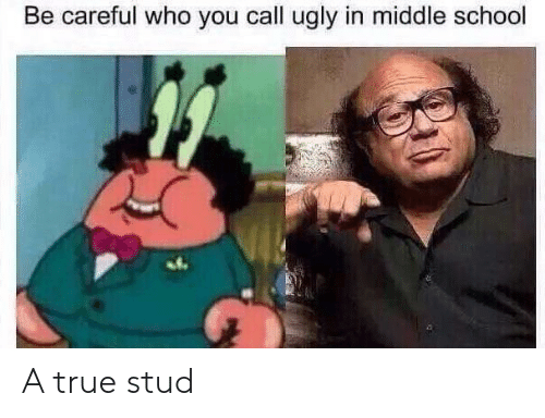 stud: Be careful who you call ugly in middle school A true stud